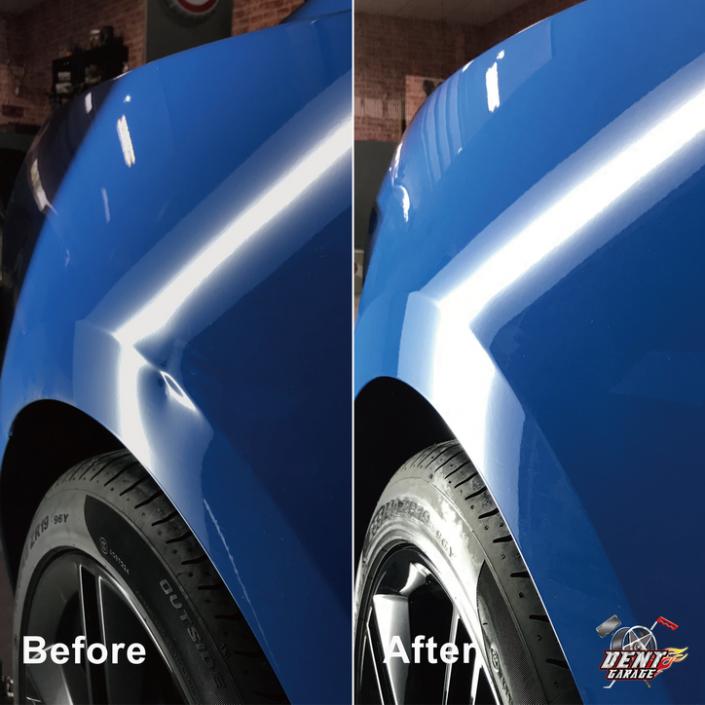 右後輪拱凹痕修復